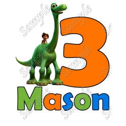 The Good Dinosaur Birthday Personalized Custom T Shirt Iron on Transfer Decal #1