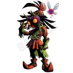 Majoras mask, Skull Kid, Zelda,T Shirt Iron on Transfer Decal #13