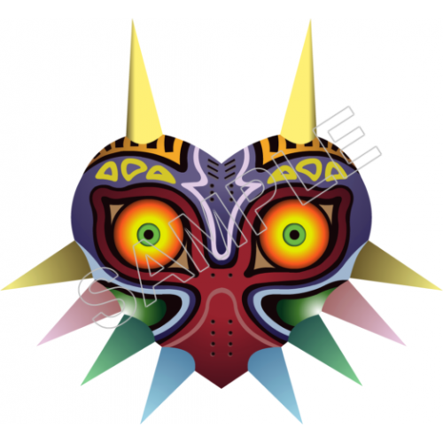 Majoras mask, Zelda,T Shirt Iron on Transfer Decal #14 by www.shopironons.com