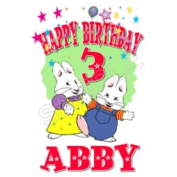 Max and Ruby Birthday Personalized Custom T Shirt Iron on Transfer Decal #69