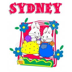 Max and Ruby Personalized Custom T Shirt Iron on Transfer Decal #55