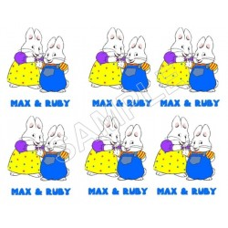 Max and Ruby T Shirt Iron on Transfer Decal #1