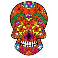 MEXICAN SUGAR SKULL IRON ON TRANSFER HEAT T-SHIRT DAY OF DEAD LOT