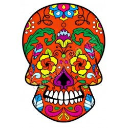Mexican Sugar Skull T Shirt Iron on Transfer Decal #28