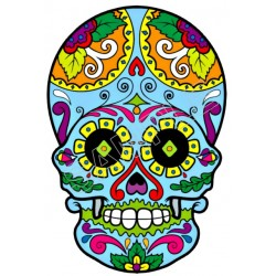 Mexican Sugar Skull T Shirt Iron on Transfer Decal #29