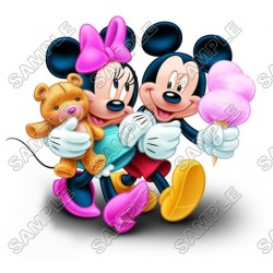 Mickey Mouse and Minnie Mouse T Shirt Iron on Transfer Decal #30