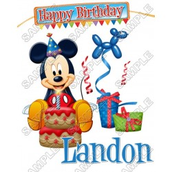 Mickey Mouse Birthday Personalized Custom T Shirt Iron on Transfer Decal #100