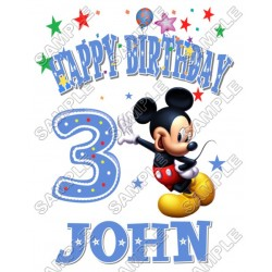 Mickey Mouse Birthday Personalized Custom T Shirt Iron on Transfer Decal #6