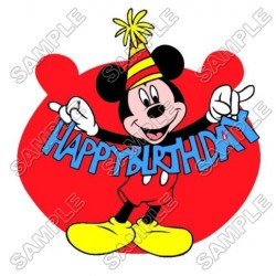 Mickey Mouse Birthday T Shirt Iron on Transfer Decal #26