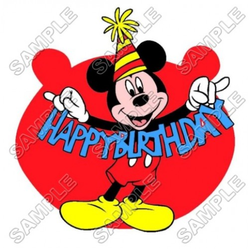 Mickey Mouse Birthday T Shirt Iron on Transfer Decal #26 by www.shopironons.com
