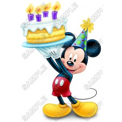 Mickey Mouse Birthday T Shirt Iron on Transfer Decal #4