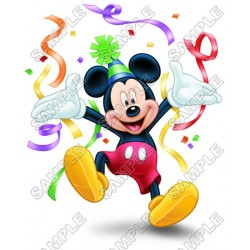 Mickey Mouse Birthday T Shirt Iron on Transfer Decal #6