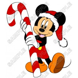 Mickey Mouse Christmas Santa T Shirt Iron on Transfer Decal #25
