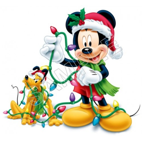 Mickey Mouse Christmas T Shirt Iron on Transfer Decal #18 by www.shopironons.com