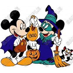 Mickey Mouse Halloween T Shirt Iron on Transfer Decal #28