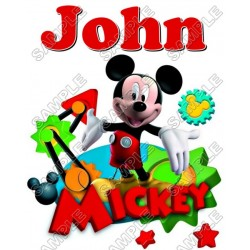 Mickey Mouse Personalized Custom T Shirt Iron on Transfer Decal #30