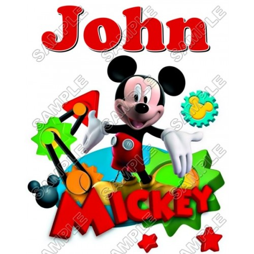 Mickey Mouse Personalized Custom T Shirt Iron on Transfer Decal #30 by www.shopironons.com