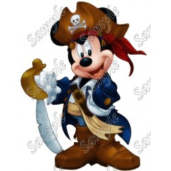 Mickey Mouse Pirate T Shirt Iron on Transfer Decal #9