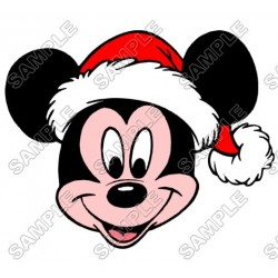 Mickey Mouse Santa Christmas T Shirt Iron on Transfer Decal #37