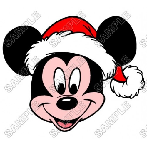Mickey Mouse Santa Christmas T Shirt Iron on Transfer Decal #37 by www.shopironons.com