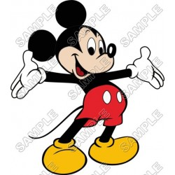 Mickey Mouse T Shirt Iron on Transfer Decal #19