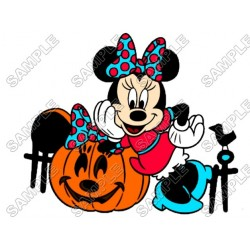 Minnie Mouse Halloween T Shirt Iron on Transfer Decal #17