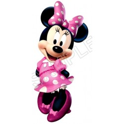 Minnie Mouse Pink T Shirt Iron on Transfer Decal #50