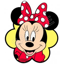 Minnie Mouse Red Bow T Shirt Iron on Transfer Decal #52