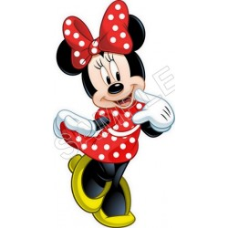Minnie Mouse Red T Shirt Iron on Transfer Decal #51