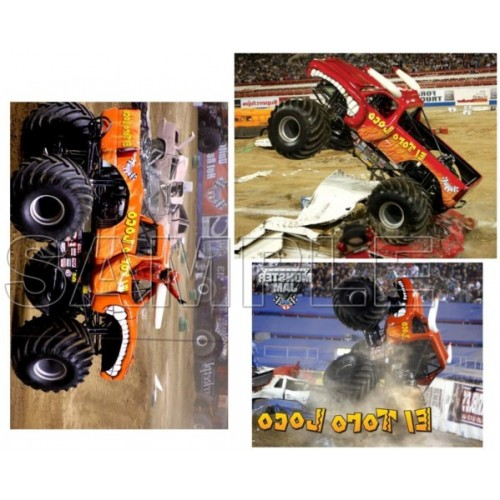 Monster Jam Truck El Toro Loco T Shirt Iron on Transfer Decal #1 by www.shopironons.com