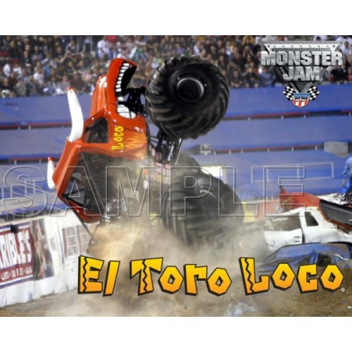 Monster Jam Truck El Toro Loco T Shirt Iron on Transfer Decal #2 by www.shopironons.com