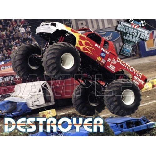 Monster Truck Destroyer T Shirt Iron on Transfer Decal #7 by www.shopironons.com