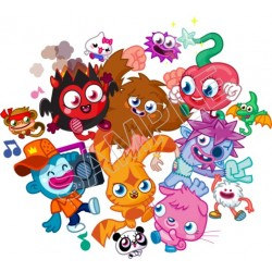 Moshi Monsters T Shirt Iron on Transfer Decal #1
