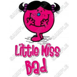 Mr Men and Little Miss Bad T Shirt Iron on Transfer Decal #37