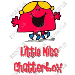 Mr Men and Little Miss Chatterbox T Shirt Iron on Transfer Decal #26