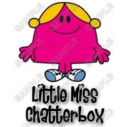 Mr Men and Little Miss Chatterbox T Shirt Iron on Transfer Decal #27
