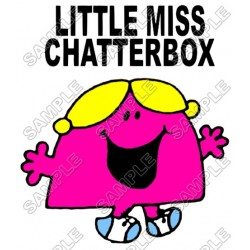 Mr Men and Little Miss Chatterbox T Shirt Iron on Transfer Decal #33