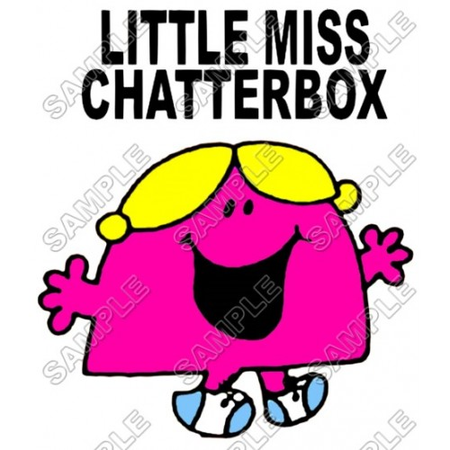 Mr Men and Little Miss Chatterbox T Shirt Iron on Transfer Decal #33 by www.shopironons.com