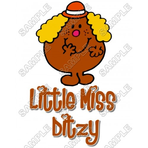 Mr Men and Little Miss Ditzy T Shirt Iron on Transfer Decal #28 by www.shopironons.com