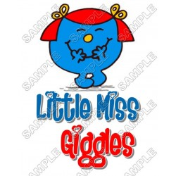 Mr Men and Little Miss Giggles T Shirt Iron on Transfer Decal #42