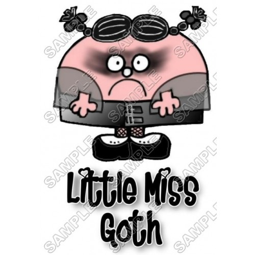 Mr Men and Little Miss Goth T Shirt Iron on Transfer Decal #35 by www.shopironons.com