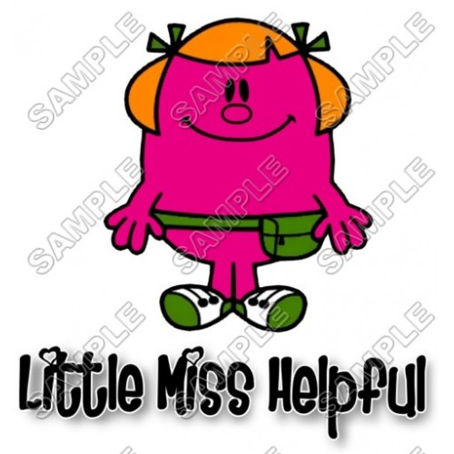 Mr Men and Little Miss Helpful T Shirt Iron on Transfer Decal #34 by www.shopironons.com