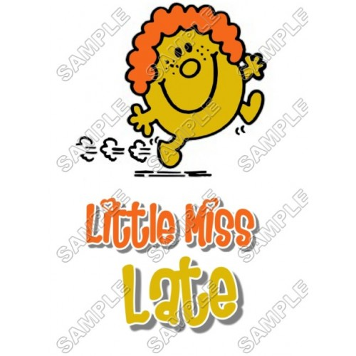 Mr Men and Little Miss Late T Shirt Iron on Transfer Decal #30 by www.shopironons.com
