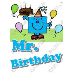 Mr Men and Little Miss Mr. Birthday T Shirt Iron on Transfer Decal #6