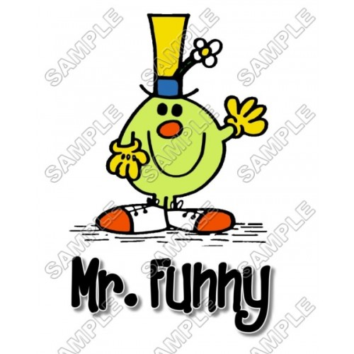 Mr Men and Little Miss Mr. Funny T Shirt Iron on Transfer Decal #10 by www.shopironons.com