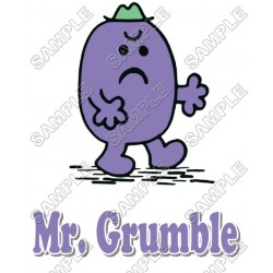 Mr Men and Little Miss Mr. Grumble T Shirt Iron on Transfer Decal #5