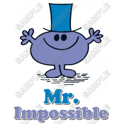 Mr Men and Little Miss Mr. Impossible T Shirt Iron on Transfer Decal #11 by www.shopironons.com