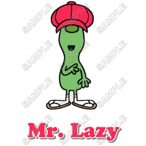 Mr Men and Little Miss Mr. Lazy T Shirt Iron on Transfer Decal #2 by www.shopironons.com