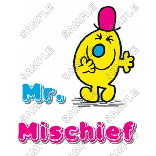 Mr Men and Little Miss Mr. Mischief T Shirt Iron on Transfer Decal #18 by www.shopironons.com