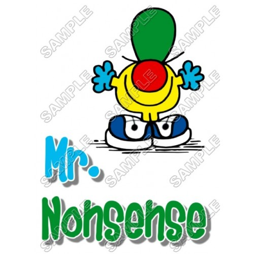 Mr Men and Little Miss Mr. Nonsense T Shirt Iron on Transfer Decal #21 by www.shopironons.com